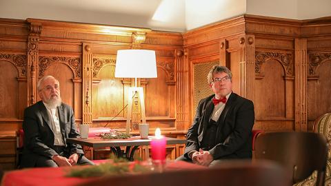 Weihbischof Gerhard Feige (li.) und Landesbischof Friedrich Kramer