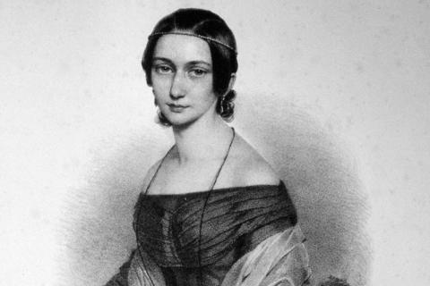 Clara Schumann. Lithographie von Andreas Staub