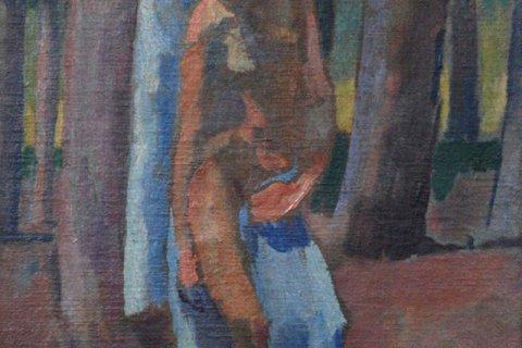 Albert Weisgerber, Sebastian mit blauem Tuch (1913)